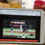 iPhoneで野球中継のライブ観戦