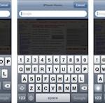 iPhoneのキーボード